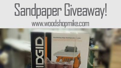 RIDGID Oscillating Sander & Klingspor Sandpaper Giveaway!