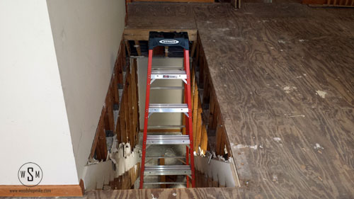 ladder in floor