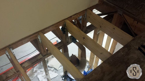 last-joist-being-installed-our-fix-it-up-house-removing stairs