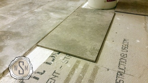Continue Layout Lines As I Work, Master Bath Remodel, Flooring