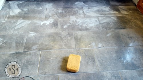 Time For Grout 4, Master Bath Remodel, Flooring