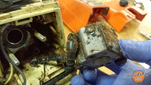 Gas Line Attachment-carburetor rebuild