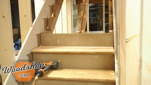 Installing Treads and Risers 2-building stairs
