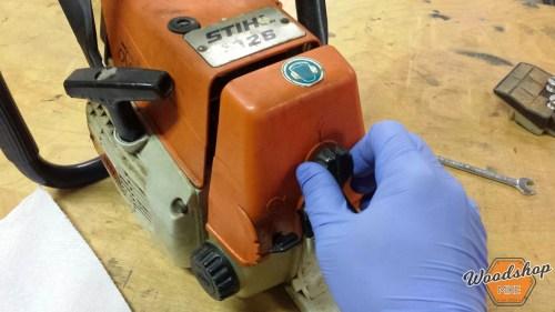 Remove Air Filter Cover-carburetor rebuild