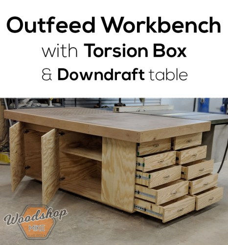 Strange Table Saw Outfeed Table With Plans Woodshop Mike Home Interior And Landscaping Oversignezvosmurscom