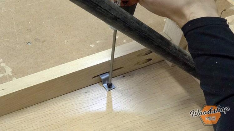 Install Z-Clips - DIY Farmhouse Entryway Bench