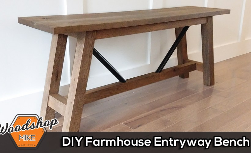 Thumbnail - DIY Farmhouse Entryway Bench