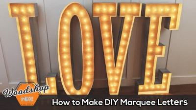 How to Make a DIY Vintage Marquee Sign
