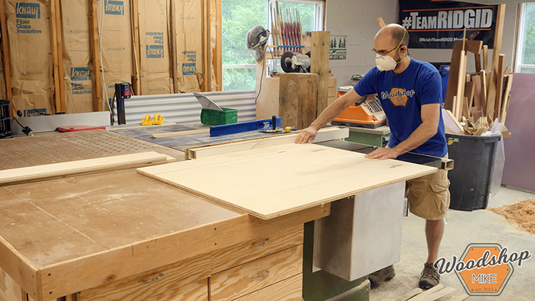 Cutting Drawer Parts DIY Farmhouse Platform Bed
