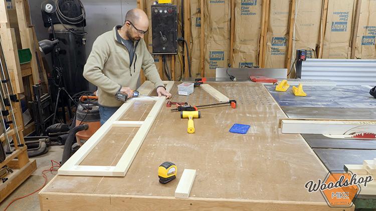 Face Frame Assembly DIY Farmhouse Platform Bed