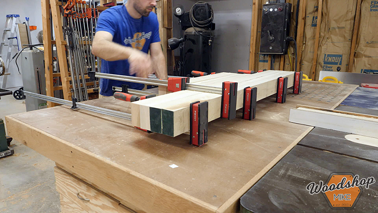 Glue Up DIY Farmhouse Platform Bed