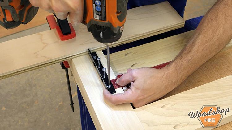 Rockler Keyhole Bed Rail Hardware DIY Farmhouse Platform Bed