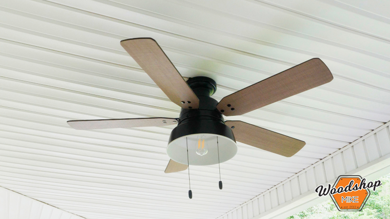 New Hunter Ceiling Fan, Front Porch Renovation