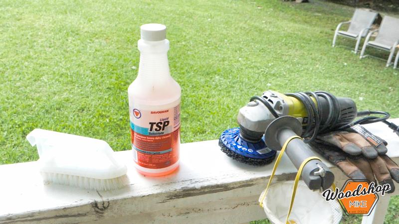 TSP Paint Prep, Front Porch Renovation