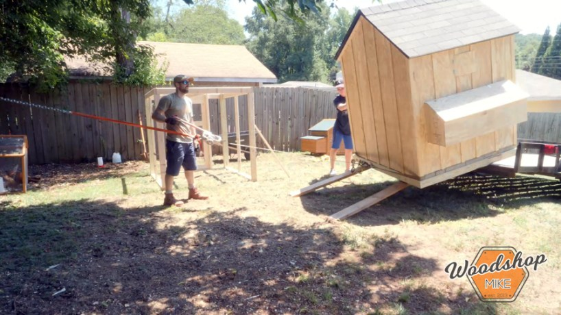 how to unload a shed _ How to make a DIY chicken coop