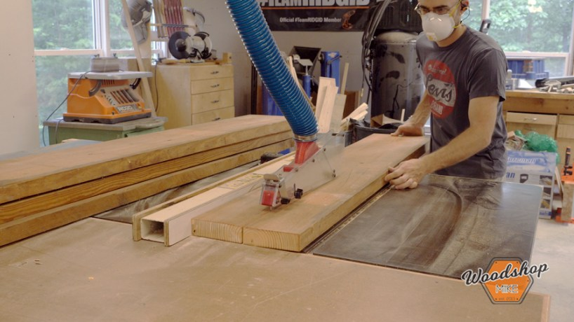 cutting warped lumber on table saw