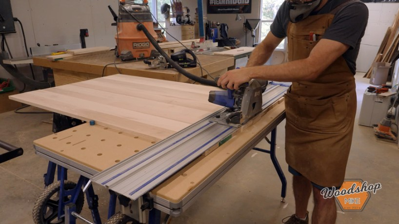 using Kreg ACS to cut table top to length