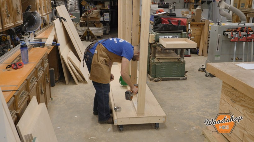 build a wood storage cart