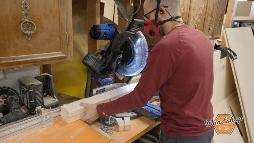 how to cut multiple 2x4s on a miter saw
