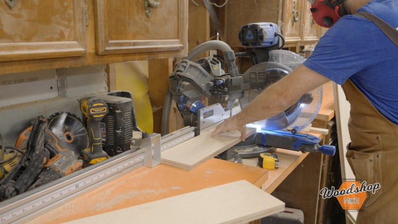how to cut wood on chop saw