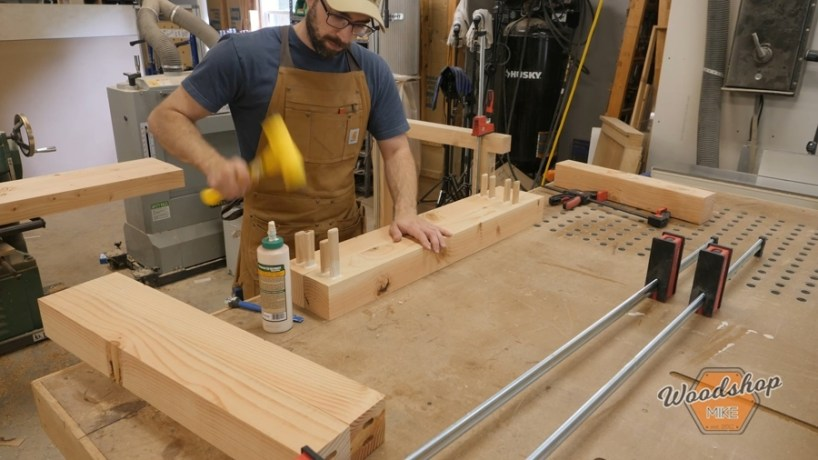 workbench assembly with dominos