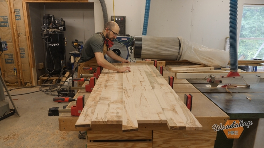 how to glue up a desk top