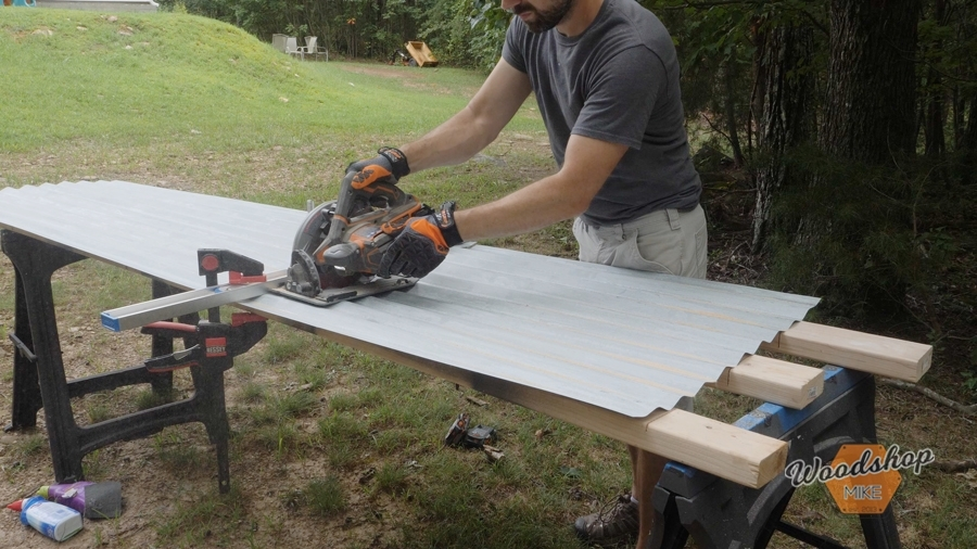 How to cut corrigated metal with a circular saw