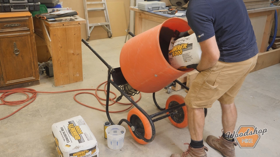 how to use a concrete mixer