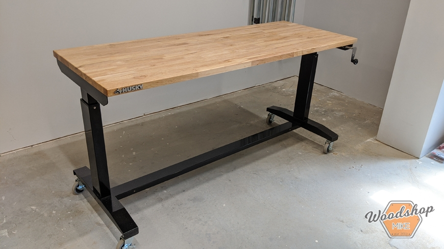 Husky Tools Adjustable Height Work Table