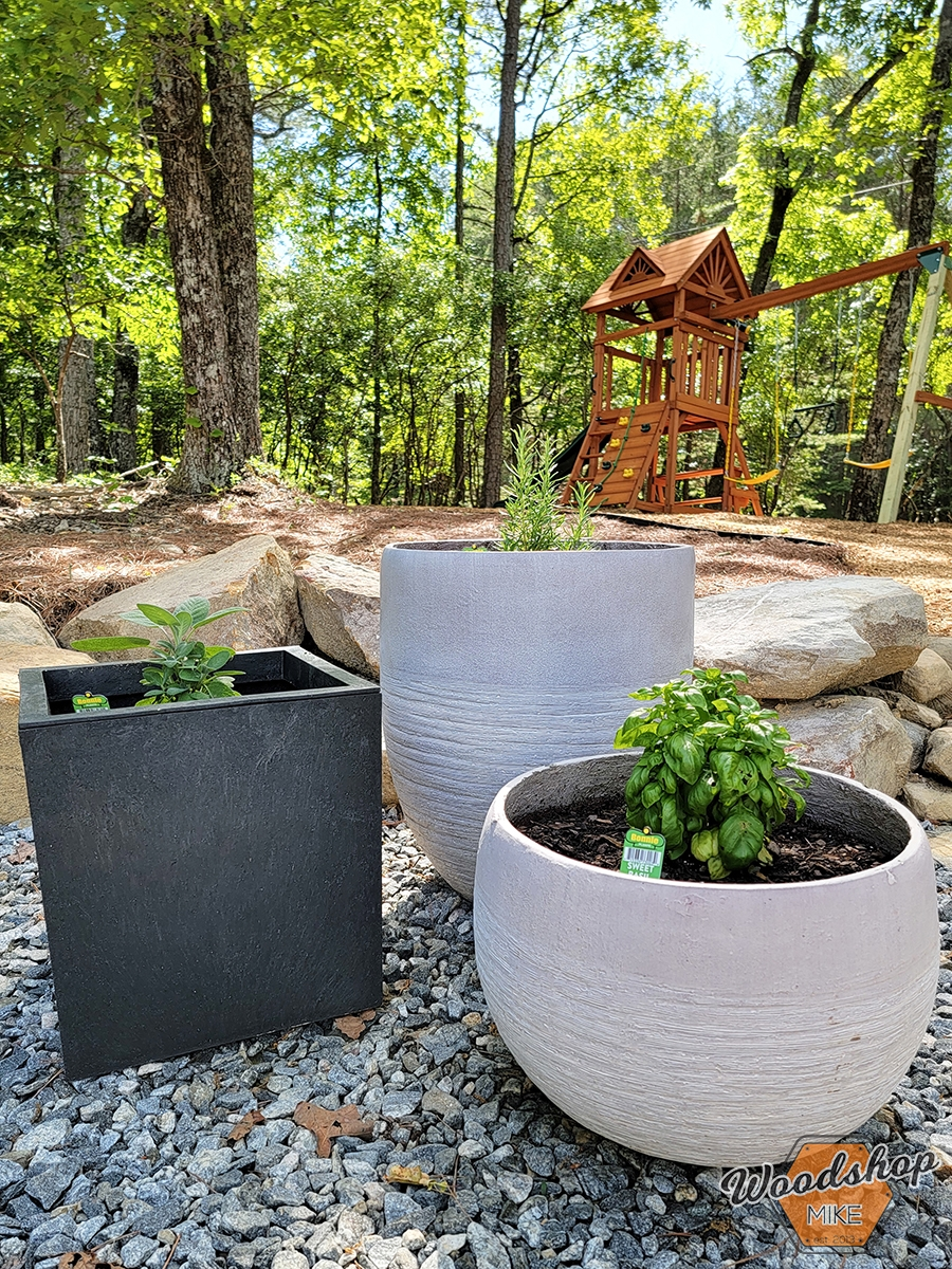 Bonnie herbs planted Outdoor Oasis