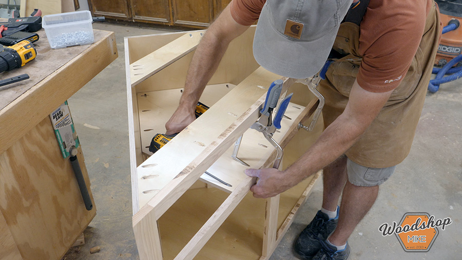 how to install undermount drawer slides in a corner cabinet