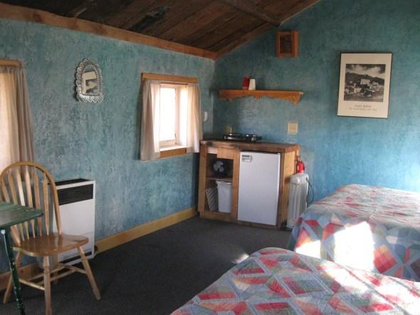 Gas heater, small fridge, hotplate, coffee pot