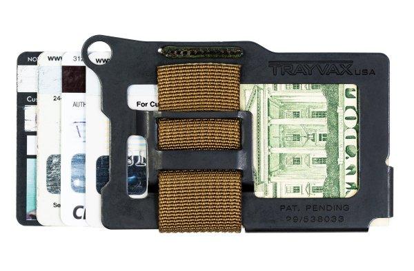 Trayvax Armored Summit Slim RFID Wallet Brown