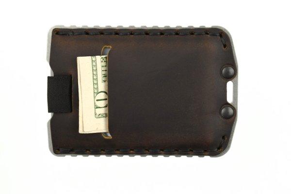 Trayvax Ascent Wallet Raw and Mississippi Mud Slim Minimalist Wallet