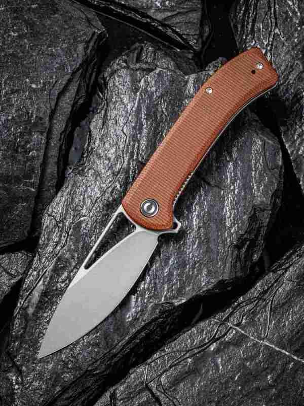 Civivi Riffle Brown Micarta Pocket Knife
