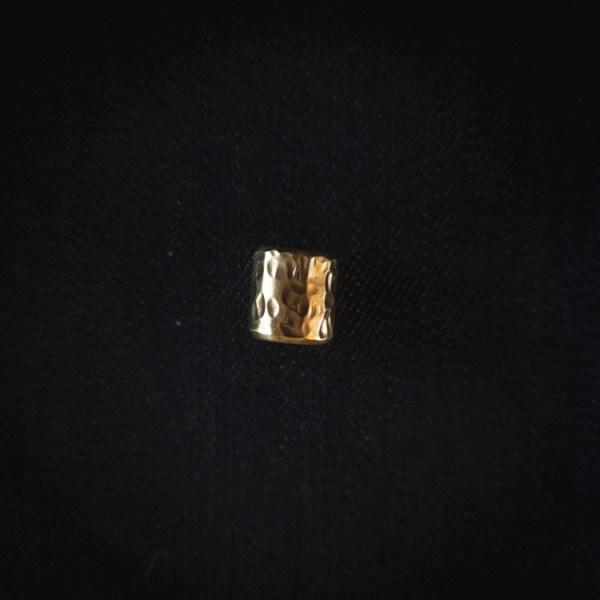 Hammered Brass Beads