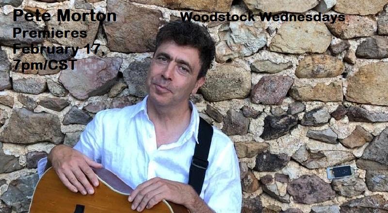 """Next up for Woodstock Wednesdays: February 17 artist, Pete Morton, singer, songwriter, """"folk rapper."""""""