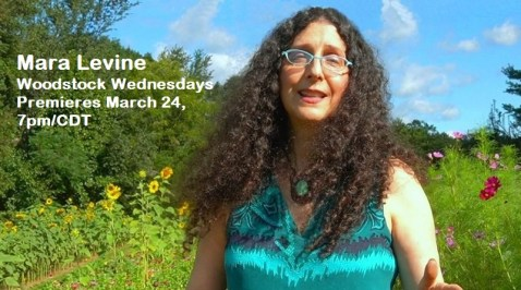 Watch Mara Levine's premiere for Woodstock Wednesdays March 24, 7pm/CDT - with a bow to Passover, beginning the evening of March 27.