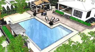3D design rendering for an inground pool installation in Buffalo NY