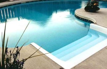 Pool coping & Standard steps Example