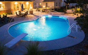 Inground Pool costs Rochester NY Deck Jet waterfeature