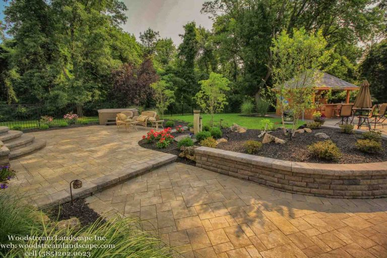 Landscape patio and pool installation Project Rochester NY