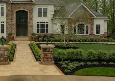 Natural Stone front landscaping Rochester NY