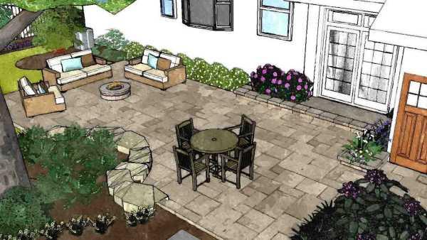 Backyard Patio Design Example Rochester NY