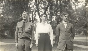 1916 - David Morgan Wright, Alice Mary Wright Reece and George William Wright