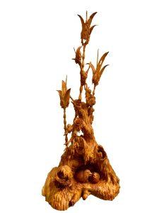 喜報豐收 節節高升 黃楊木