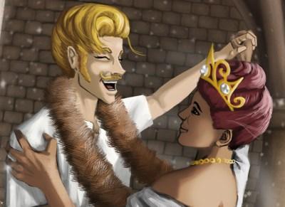Illustration from Serafina's Crown