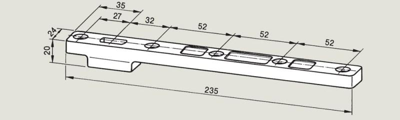 Bottom Strap 7421 | Woodwood Door Controls