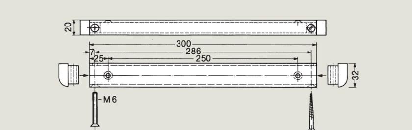 Floor Spring Guide Track   Woodwood Door Controls