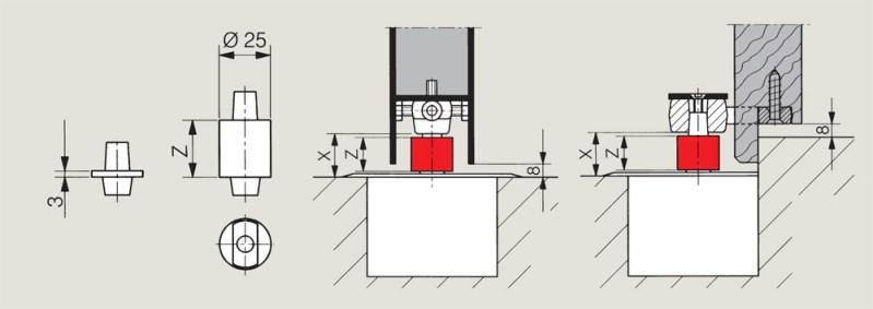 Floor Spring Pivot Extensions | Woodwood Door Controls